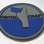 Pistolcraft 3D PVC Patch – Blue / Grey