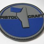 Pistolcraft 3D PVC Patch – Blue / Grey